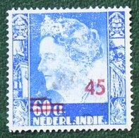 45 OP 60 CT Hulpuitgifte NVPH 325 1947 Gestempeld / Used NEDERLAND INDIE / DUTCH INDIES - Netherlands Indies