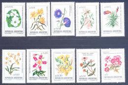 1985. Argentina, Definitives, Mich.1748/57, Flowers, 10v, Mint/** - Argentina