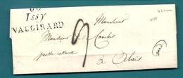 Seine -Issy . Cursive Double 60/Issy/VAUGIRARD. Indice 13. Pour M. DE CAMBIS En Poste Restante à ALAIS/ALES - Postmark Collection (Covers)