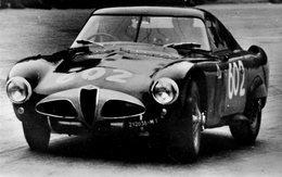 Mille Miglia 1953  - Alfa Romeo 6C 3000 'Soucoupe Volante'  -  Pilote: Juan Manuel Fangio -  15x10cms PHOTO - Rallyes