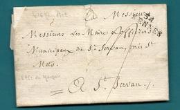 Ille Et Vilaine - Rennes Pour St SERVAN. LAC De 1792 - Marcofilie (Brieven)