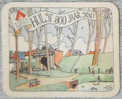 Sous-bock STELLA ARTOIS Hulst 800 Jaar Stad 1180 1980 1976 Année Des Paysages 15 (CX) - Sous-bocks