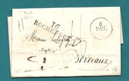 Charente Inférieure - Rochefort Pour Hologray à BORDEAUX. 1828 - 1801-1848: Voorlopers XIX