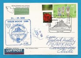 "Schiffspost , Flottenflagschiff  ""Fregatte Bayern"" Kieler Woche 21.- 29. Juni 2008 - Postkarte - Post"