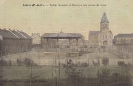 CPA 62, Lievin Eglise St Amé, Et Kiosque Des Mines De Lens (pk47554) - Lievin