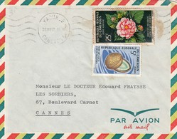 CAMEROUN  - LETTRE PAR AVION YOUNDE 29.XII.67 / 1 - Cameroon (1960-...)
