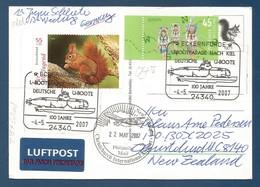 Schiffspost , U-Bootparade Nach Kiel - 100 Jahre Deutsche U-Boote - Eckernförde -4.-5. 2007 - Postkarte - Post