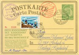 Ballonpost 1988 Entier Postal Illustre Par Ballon De Schaan. Voir 2 Scan - Poste Aérienne