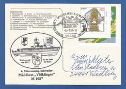 "Schiffspost , 4. Minensuchgeschwader MiJ-Boot ""Völklingen"" M1087 - Postkarte - Post"