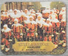 Sous-bock STELLA ARTOIS Folklore 2 Binche Gilles Bierviltje Bierdeckel Coaster (CX) - Sous-bocks