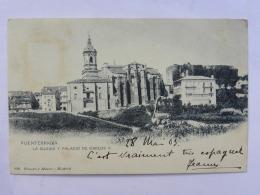 CPA ESPAGNE - FUENTERRABIA - La Iglesia Y Palacio De Carlos V. - Espagne
