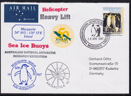 ANTARCTIC,MACQUARIE 1997,HELI-Flight, 7 Cachets + Vignette,look Scan !! 14.6-04 - Australian Antarctic Territory (AAT)