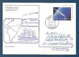 "Schiffspost , Round Cape Hoorn S.T.S. ""Khersones"" Under Sails - Postkarte - Post"