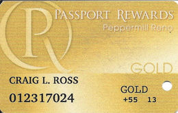 Peppermill Casino - Reno, NV - Gold Slot Card - Casino Cards