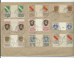 Germany Stamps French Zone Arms Sgf1 Gutter Pairs Used On Cover. Scarce Item - Zona Francese
