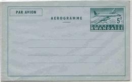 Rwanda Aérogramme 5 Francs Aerogram Air Letter Entier Entero Ganzsache Lettre Carta Belege Airmail Cover - Rwanda