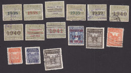 Guatemala, Scott #RA8-RA16, RA18, RA20-RA23, RA20, Used, Postal Tax Stamps, Issued 1938-1949 - Guatemala