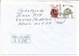 Registered Commercial Cover Multiple Stamps - 9 June 1995 Sillamäe - Estland