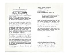 P 514. Z.E.Pater MICHEL BRAEKERS - °BEEK (BREE) 1907 / HEVERLEE / BUJUMBURA 1979 - Images Religieuses