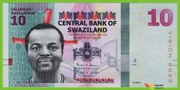 Voyo SWAZILAND 10 Emalangeni 2015(2017) P41 B236a AB UNC - Swaziland