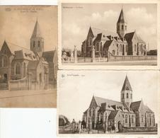Sint - Pauwels : Kerk   ---- 3 Kaarten - Sint-Gillis-Waas