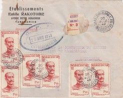 MADAGASCAR - DEVANT DE LETTRE RECOMMANDE TANANARIVE 20.8.1948 - ETS EMILE RAKOTOBE / 1 - Madagascar (1889-1960)