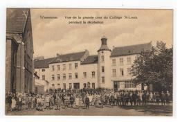 Waremme.  Vue De La Grande Cour Du Collège St-Louis Pendant La Récréation. 1924 - Borgworm