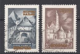 KROATIA Kroatien 1941 Michel 39 - 40 Briefmarkenausstellung Zagreb O - Kroatien