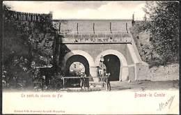 Braine-le-Comte - Le Pont Du Chemin De Fer (animée, Editions VG, 1902) - Braine-le-Comte