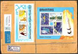 1981 Bahamas - Registered Cover With Mi MS  B 31 + B 32  (xdr) - Bahamas (1973-...)
