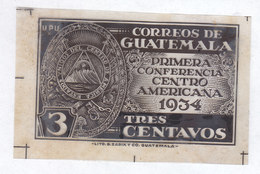 Guatemala, Scott #Not Listed, Plastic Printing Sheet?, Conference For Central American Union, Issued 1934 - Guatemala