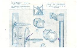 """A A/ Buvards >Alliage Dur D'Aluminium """"Bezault Frères"""" Surement Une Moitié De Buvard (Format 28 X 13) (N= 1) - Blotters"""
