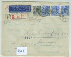 AANGETEKENDE L.P. NEDERLANDS-INDIE RETOUR BRIEFOMSLAG Uit 1951 DJAKARTA Naar SCHEVENINGEN > AMERONGEN  (11.150) - Niederländisch-Indien