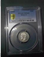 50 CENTIMES 1886 BELGIQUE PCGS MS 64 - 06. 50 Centimes