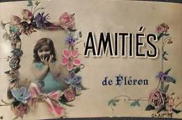 Amitiés De Fléron (fleurs Rubans Gamine, 1910) - Fléron