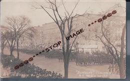 CARTE PHOTO  MILITAIRES VIA HARLEM  BUFFALOS EN MARS 1918 - Buffalo