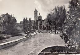 Rho-Mi-Giardini Pubblici-Sullo Sfondo Il Santuario-Bamini Che Giocano-Viaggiata Il 1966-Originale D'Epoca Al100%-an - Rho
