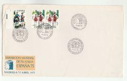 1975 EXPOSICION MUNDIAL DE FILATELIA ESPANA Event COVER Spain Stamps Philatelic Exhibition - 1931-Aujourd'hui: II. République - ....Juan Carlos I