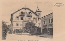 NIEDERDORF-VILLABASSA-BOZEN-BOLZANO-TIROL-GASTHOF BACKMANN(BESITZER L.SENFTER)-IL PORTO-CARTOLINA ANNO 1900-1904 - Bolzano