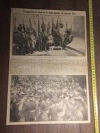ANNEES 20/30 INAUGURATION A CASSEL STATUE EQUESTRE MARECHAL FOCH LES GEANTS STEENVOORDE REUZE DUNKERQUE - Vecchi Documenti