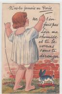 CPA - Carte A Système-N'as Tu Jamais Vu PARIS -ne T'en Fais Pas Lève Ma Chemise-dép75 -2scans - Francia