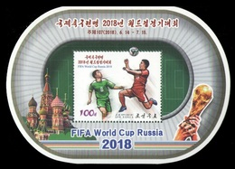 North Korea 2018 Mih. 6494 (Bl.986) Football. FIFA World Cup In Russia MNH ** - Korea, North