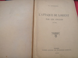 L ATTAQUE DE LORIENT PAR LES ANGLAIS /1746 /P. DIVERRES - Books, Magazines, Comics
