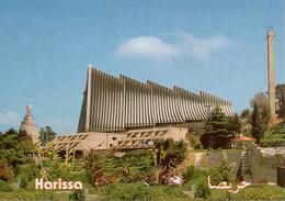 Cpm LIBAN / LEBANON   HARISSA  La Basilique (et Le Sanctuaire ) De Notre Dame Du Liban , Dos Vierge - Liban
