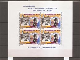 Prix Nobel - Schweitzer ( BF 4 XXX -MNH- Du Mali) - Nobel Prize Laureates