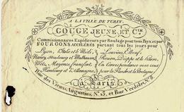 1814 A LA VILLE DE TURIN GOUGE JEUNE ET CIE à PARIS  Pour PARIS  MR HENRY MEYRNEIS NEGOCIANT  B.E.V.SCANS - 1800 – 1899