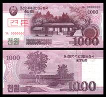 North Korea 1000 Won 2008 UNC SPECIMEN - Korea, North