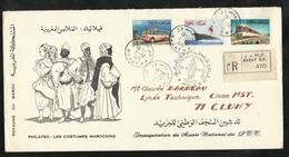 Maroc  N°  511 à 513   Sur  Lettre Recommandée Circulée Premier Jour Le 01/12/1971 à Cluny Le 03/12/1971...  TB  ... ! ! - Marokko (1956-...)