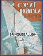 CAF CONC PIANO GF PARTITION MAURICE CHEVALIER YVAIN C'EST PARIS TOUR EIFFEL OPÉRETTE ILL VALERIO 1923 - Other