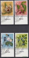 SCHWEIZ  1013-1016, Mit Früchtenamen, Gestempelt, Pro Juventute 1973 - Gebruikt